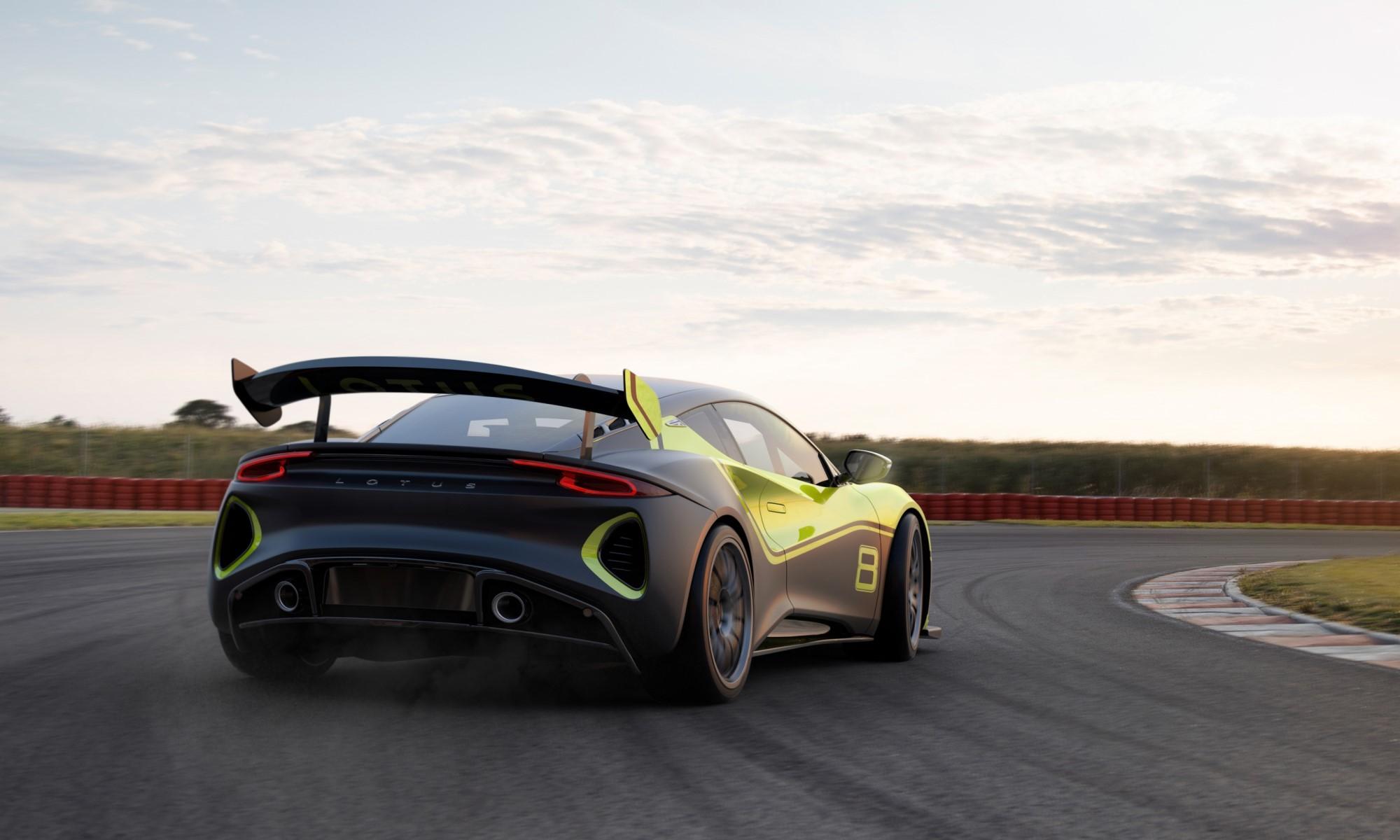 Lotus Emira GT4 rear