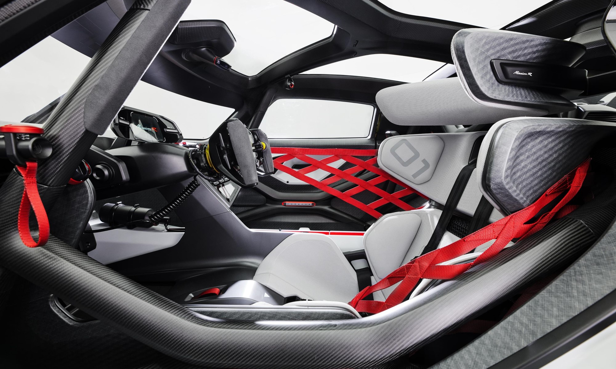 Porsche Mission R Concept cabin
