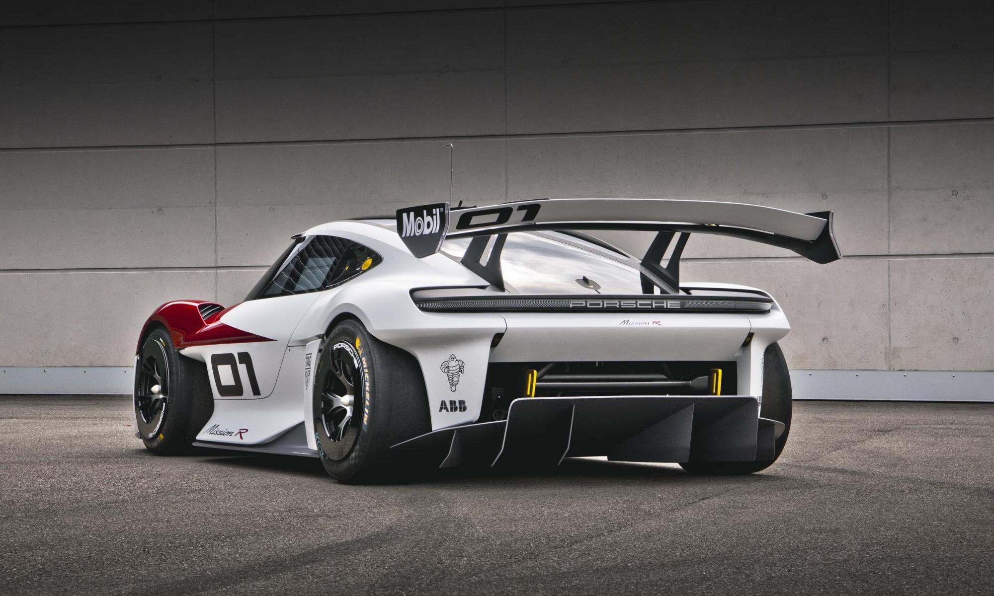 Porsche Mission R Concept rear