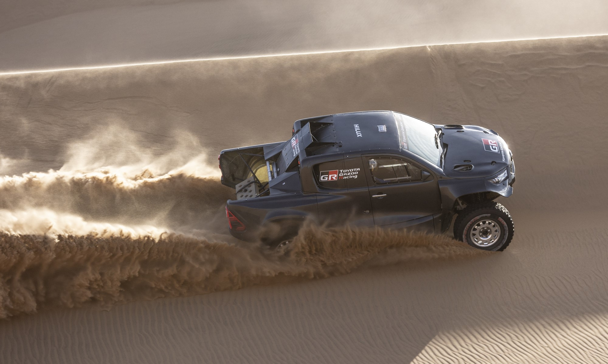 Toyota GR DKR Hilux T1+ during testing