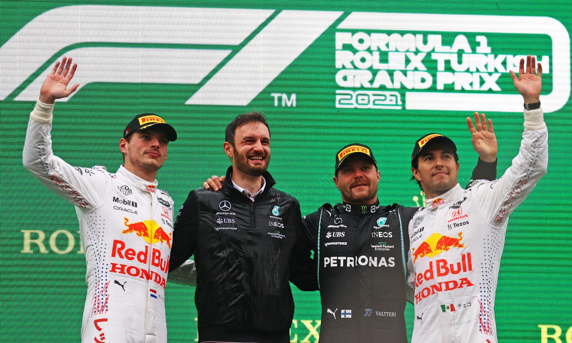 F1 review Turkey 2021 podium