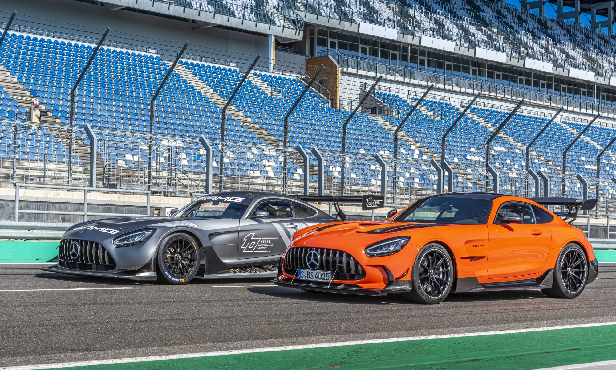 Mercedes-AMG GT Black Series with GT3 racer