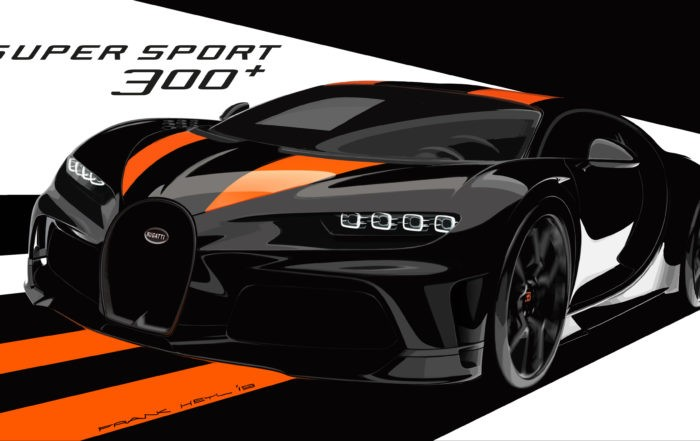 The special edition will feature a black finish with orange stripes, like the Veyron Super Sport.