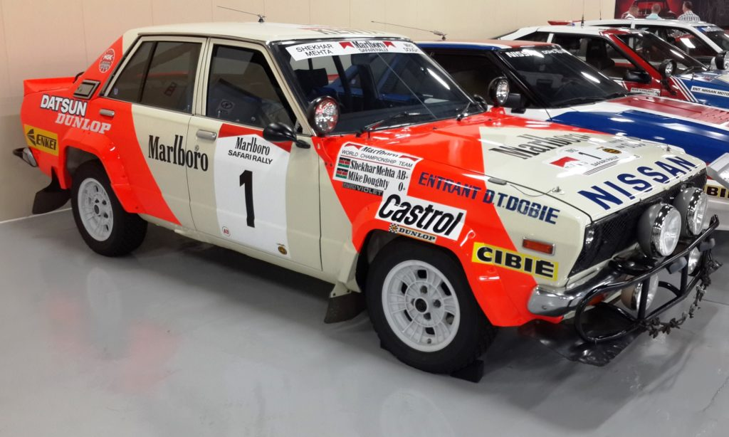A Datsun Stanza as raced at the Safari Rally