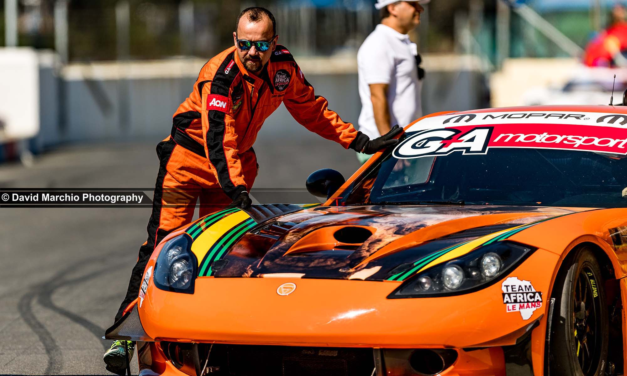 The unmissable orange Ginetta G55 of Mills Motorsport, featured an updated livery from last years Campos 600
