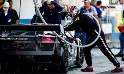 The Lamborghini of Stradale motorsport in for a pitstop. The Gallardo finished second in second position in the Campos 600