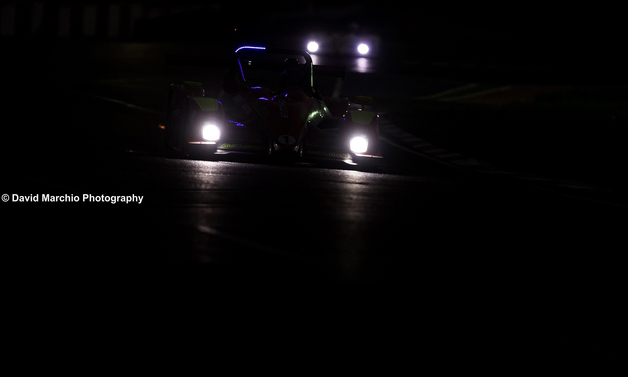 Incredible focus is required when racing at night time, some teams setting their fastest laps are dark
