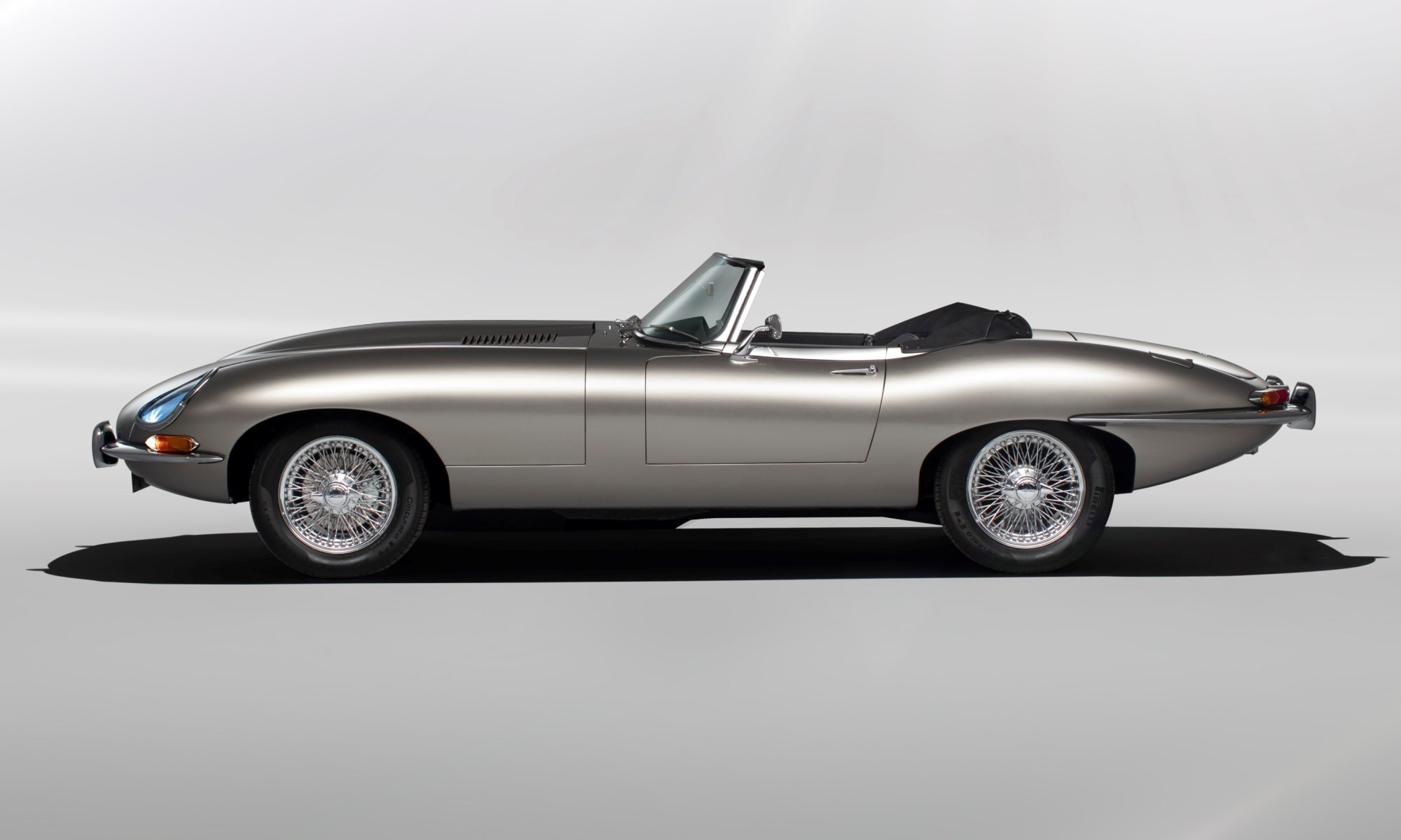 All-electric Jaguar E-Type profile