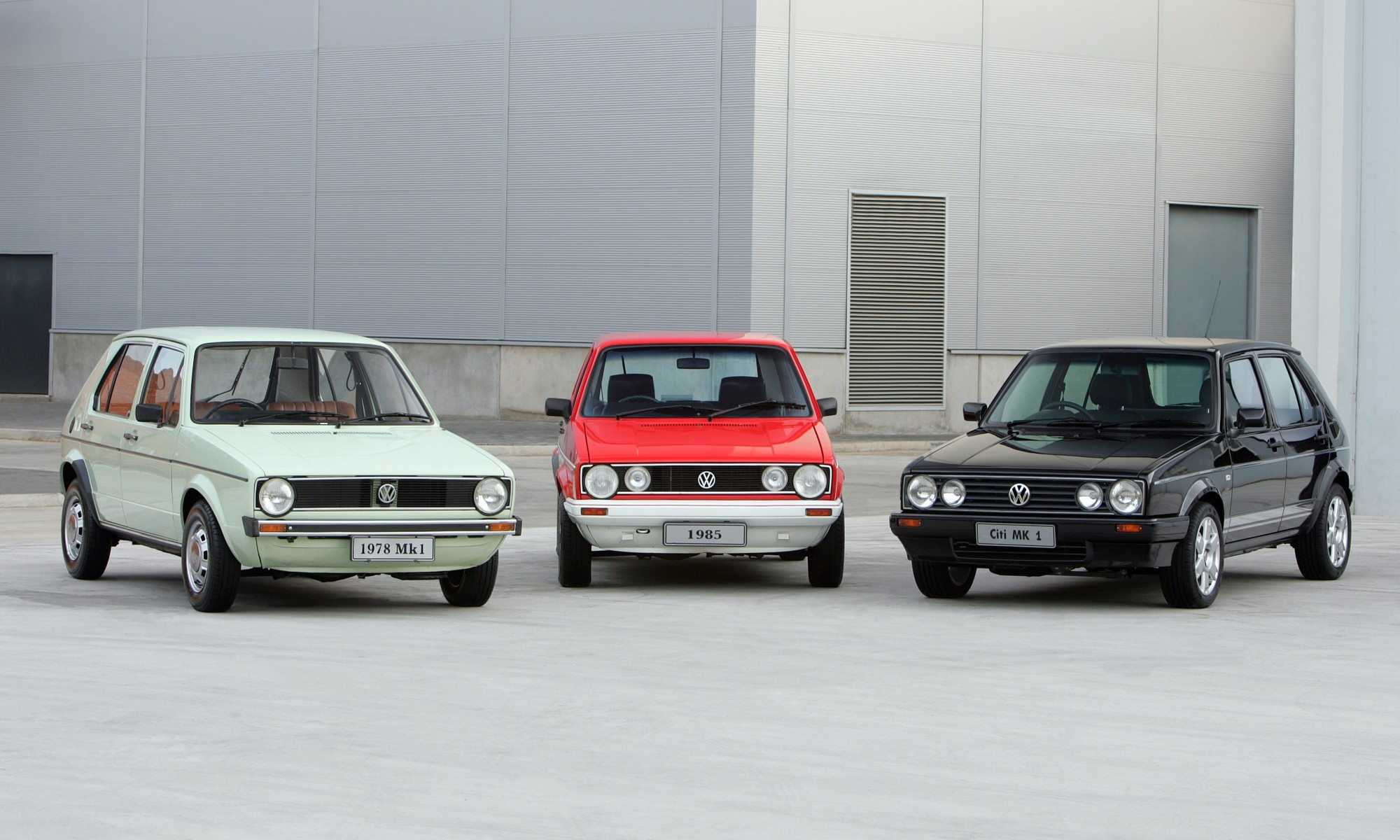 An original Mk1, a Citi Golf and one of the last special edition models