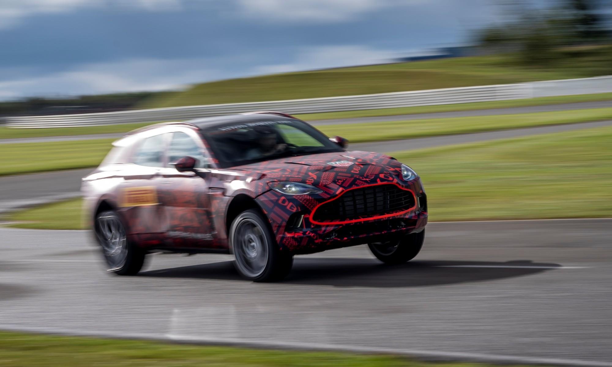 Aston Martin SUV front