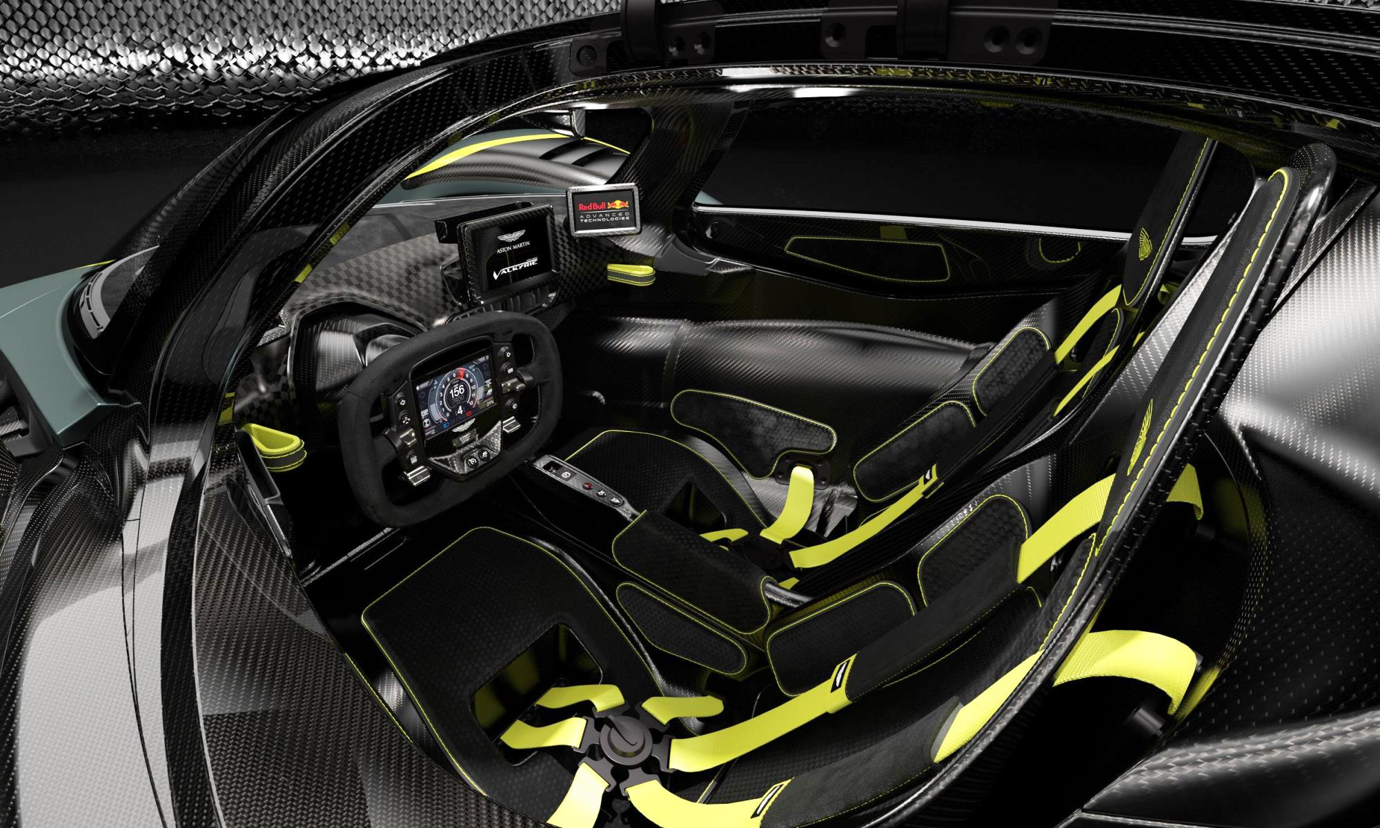Aston Martin Valkyrie AMR Track Performance Pack cockpit