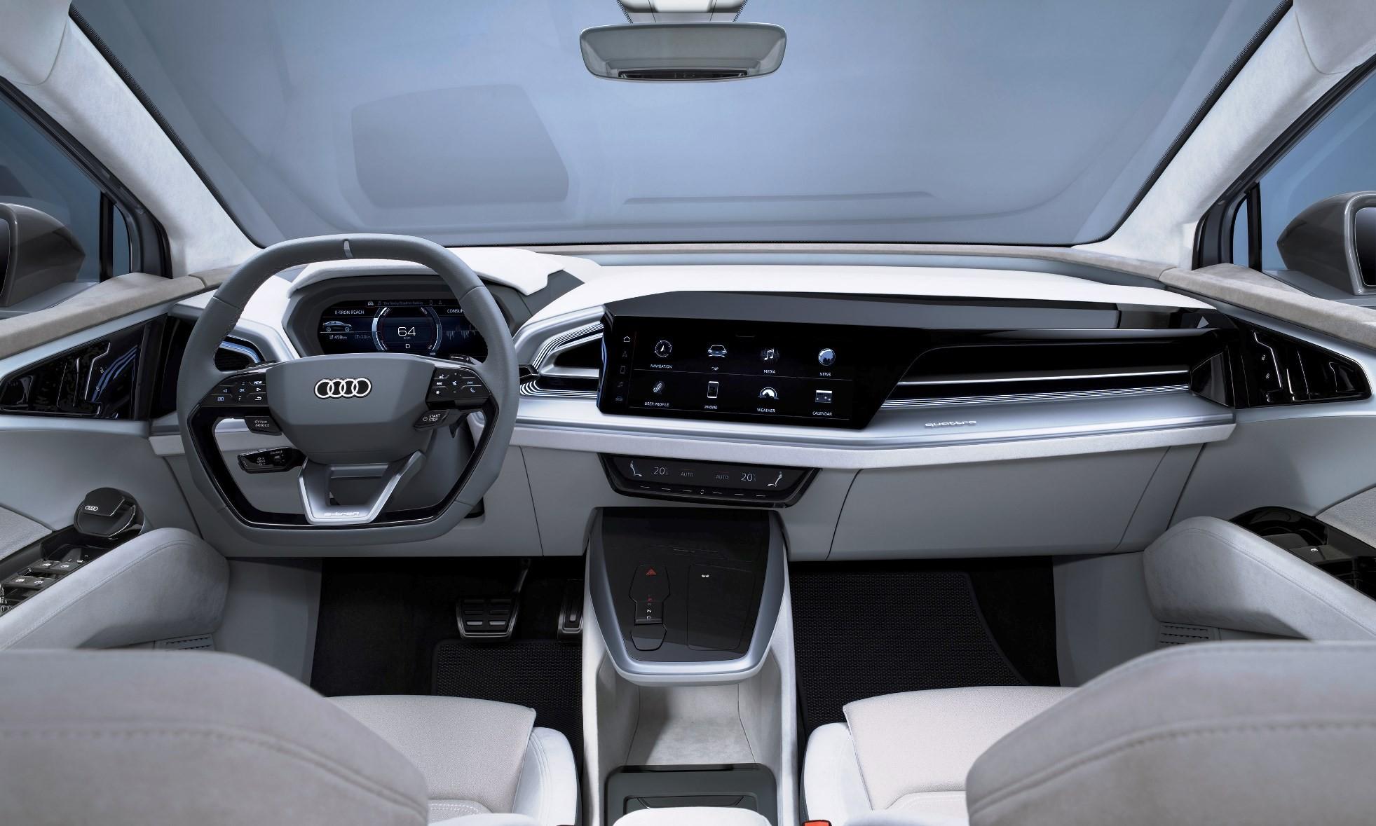 Audi Q4 E-Tron Sportback Concept interior
