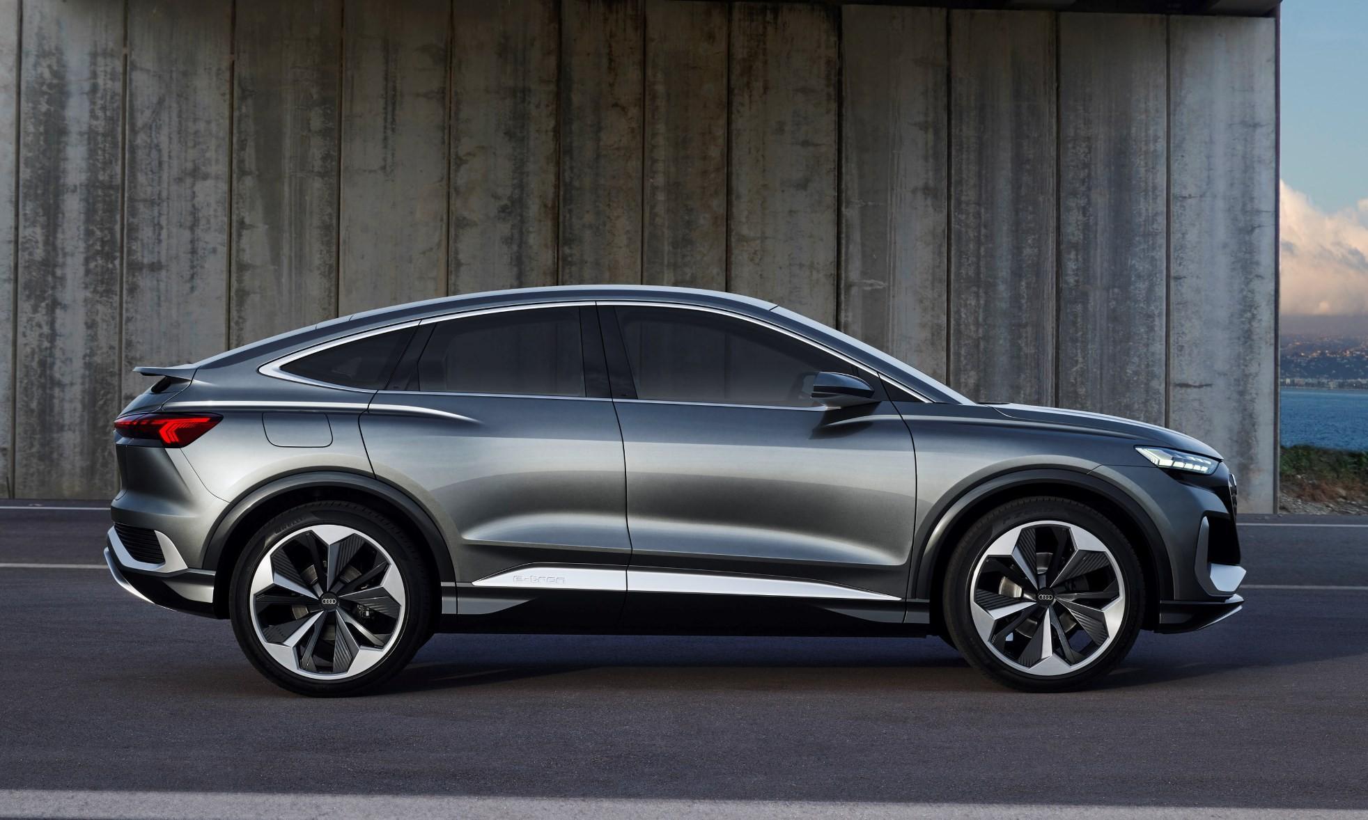 Audi Q4 E-Tron Sportback Concept profile