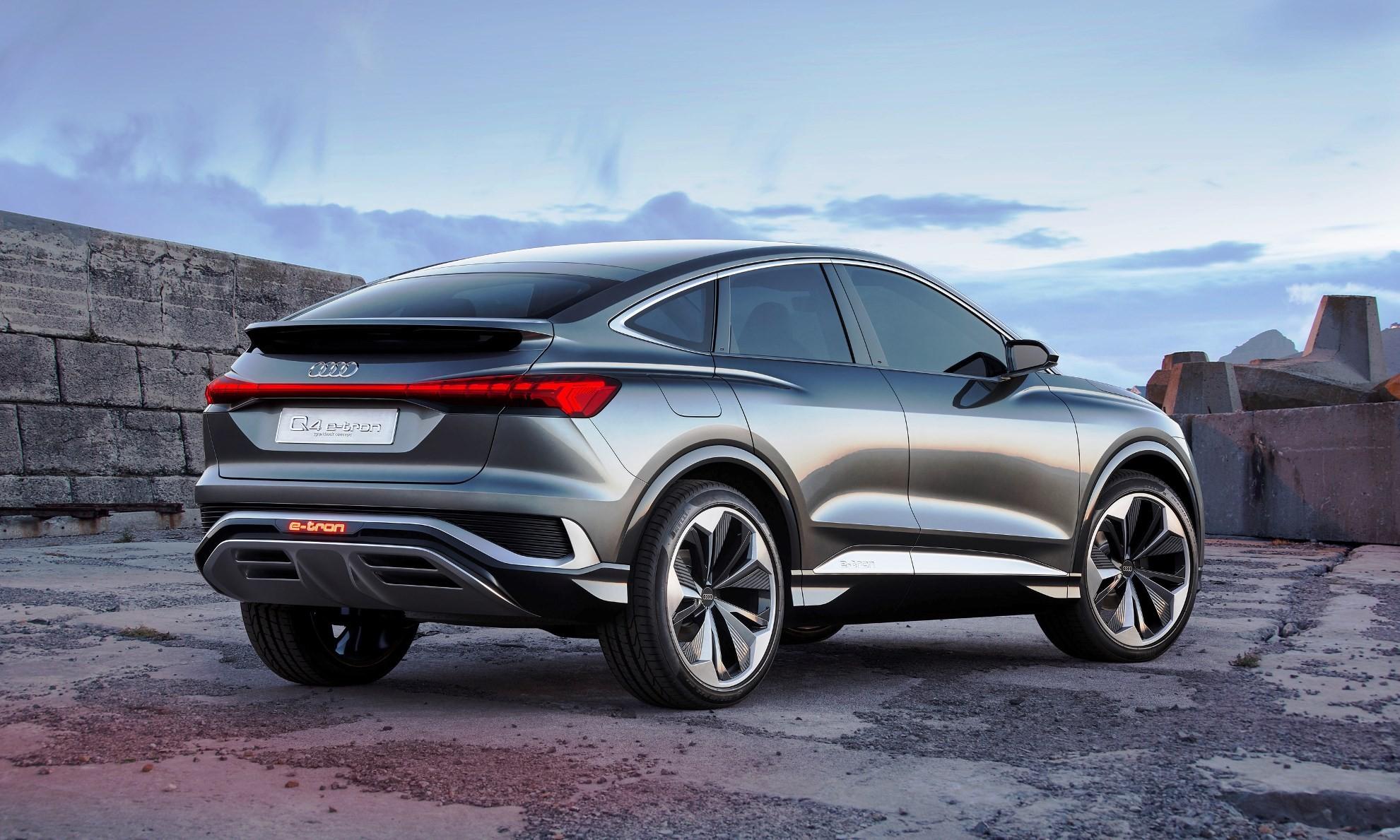 Audi Q4 E-Tron Sportback Concept rear