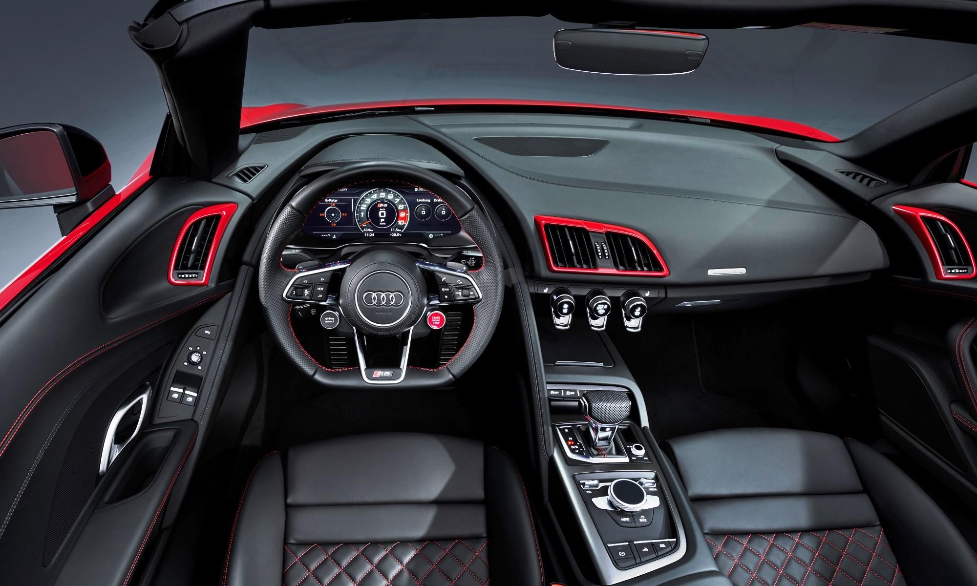Audi R8 V10 RWD Spyder interior