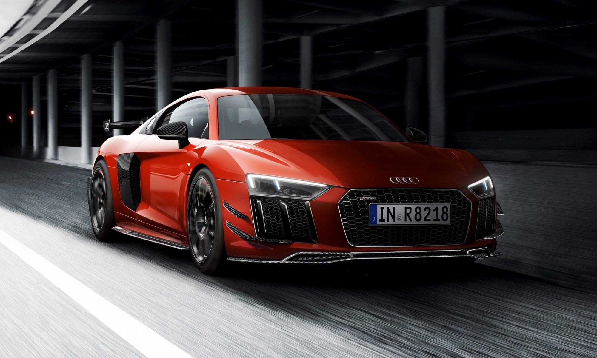 Audi Sport Performance Parts R8 in action