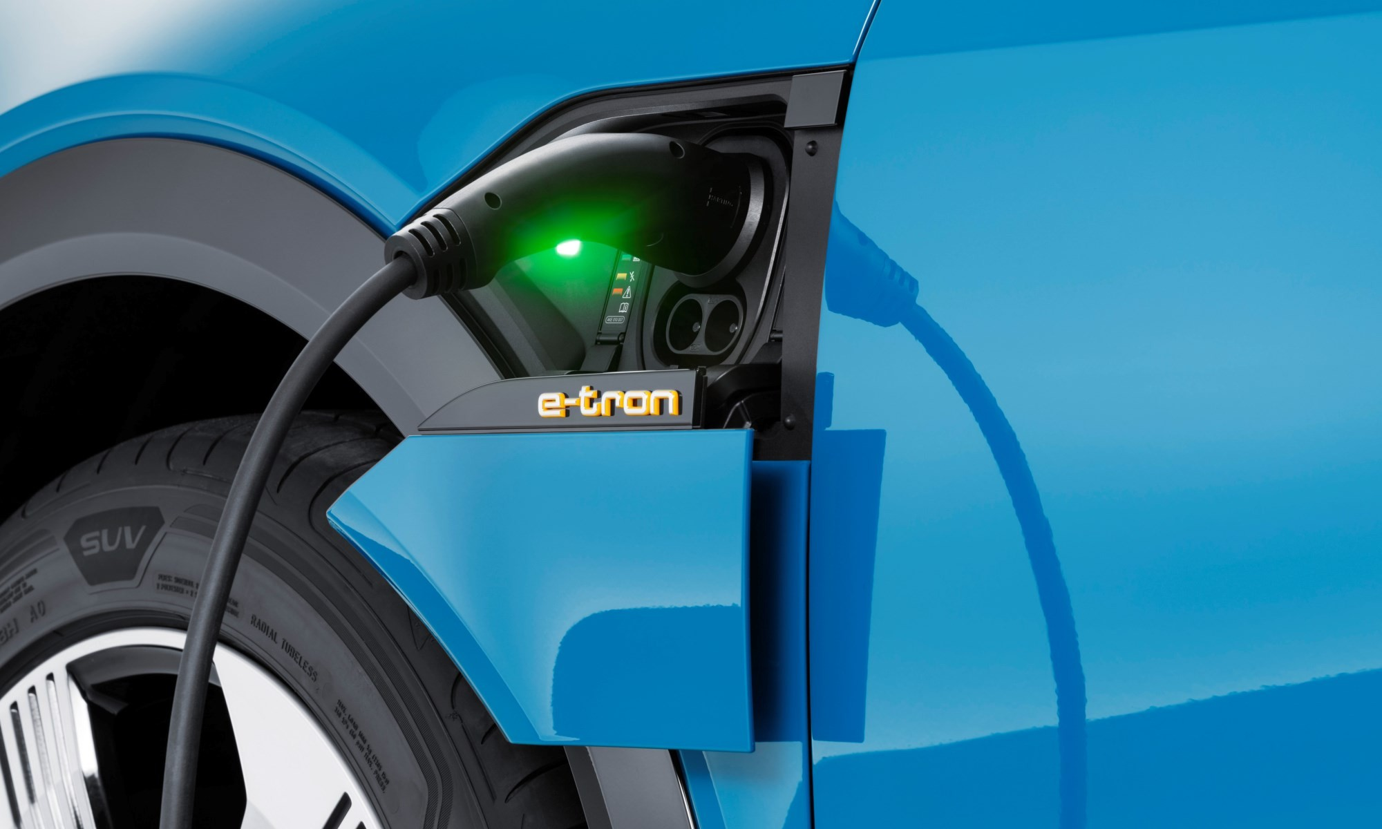Audi e-tron charging point