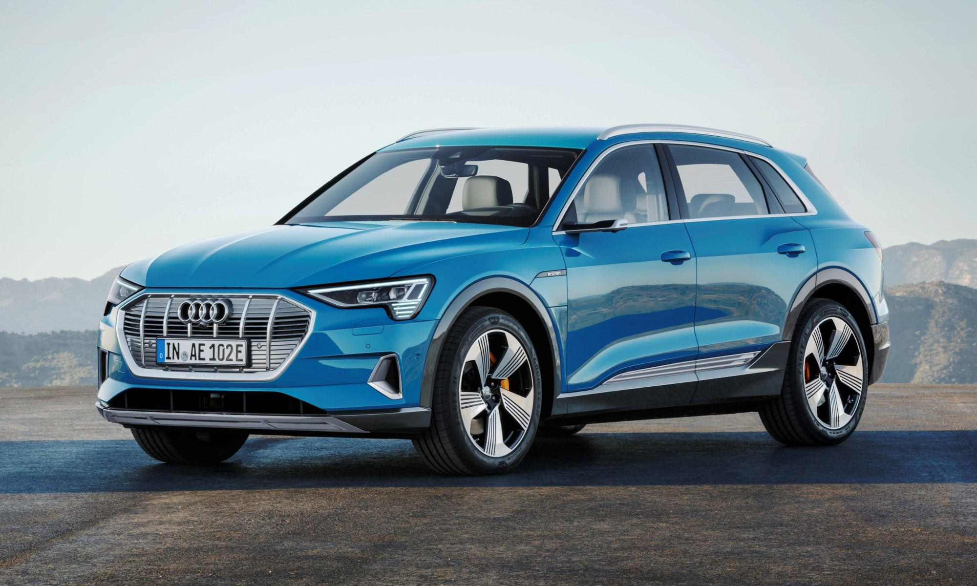 Audi e-tron is the company's first all-electric production car.