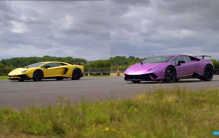 Lamborghini drag race