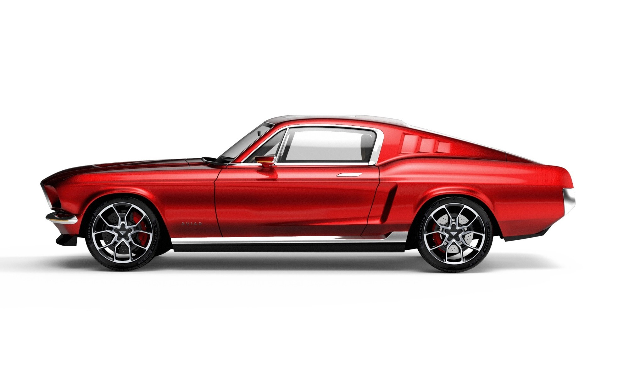 Aviar R67 Electric Mustang Is An Electric Muscle Car From