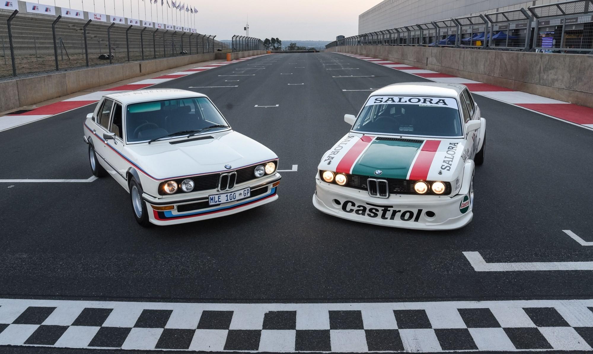 BMW 530 MLE Racecar and road car static
