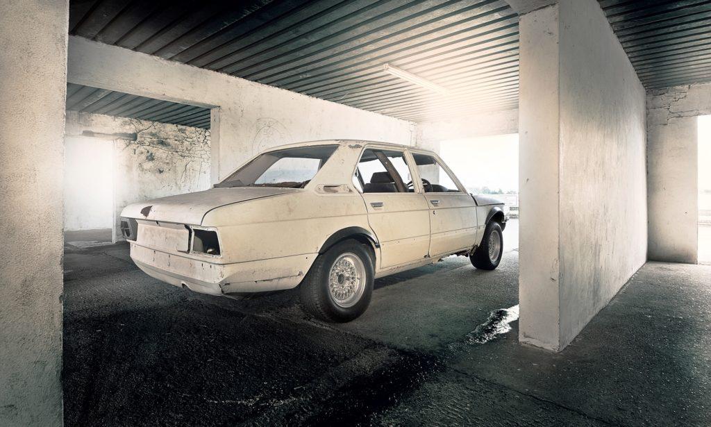 BMW 530 MLE before restoration