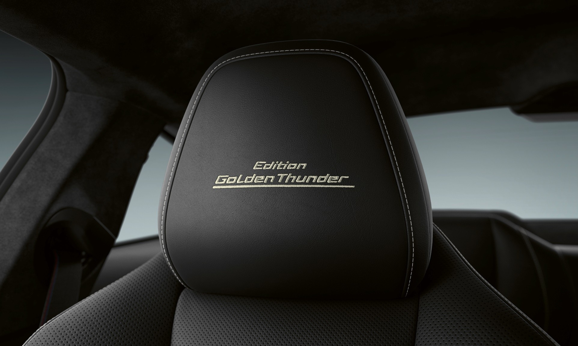 BMW 8 Series Edition Golden Thunder headrest