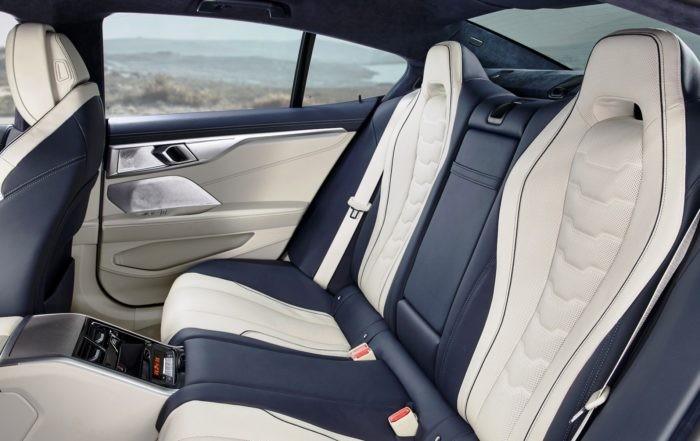 BMW 8 Series Gran Coupe rear cabin