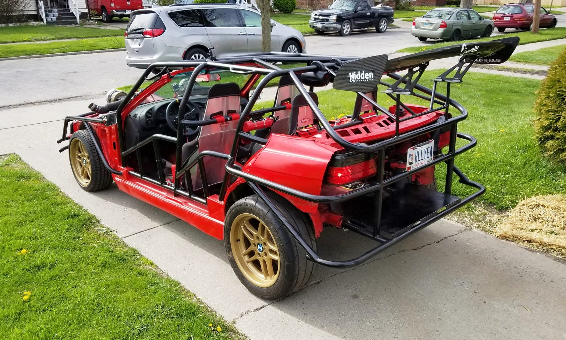 BMW Drift Kart side