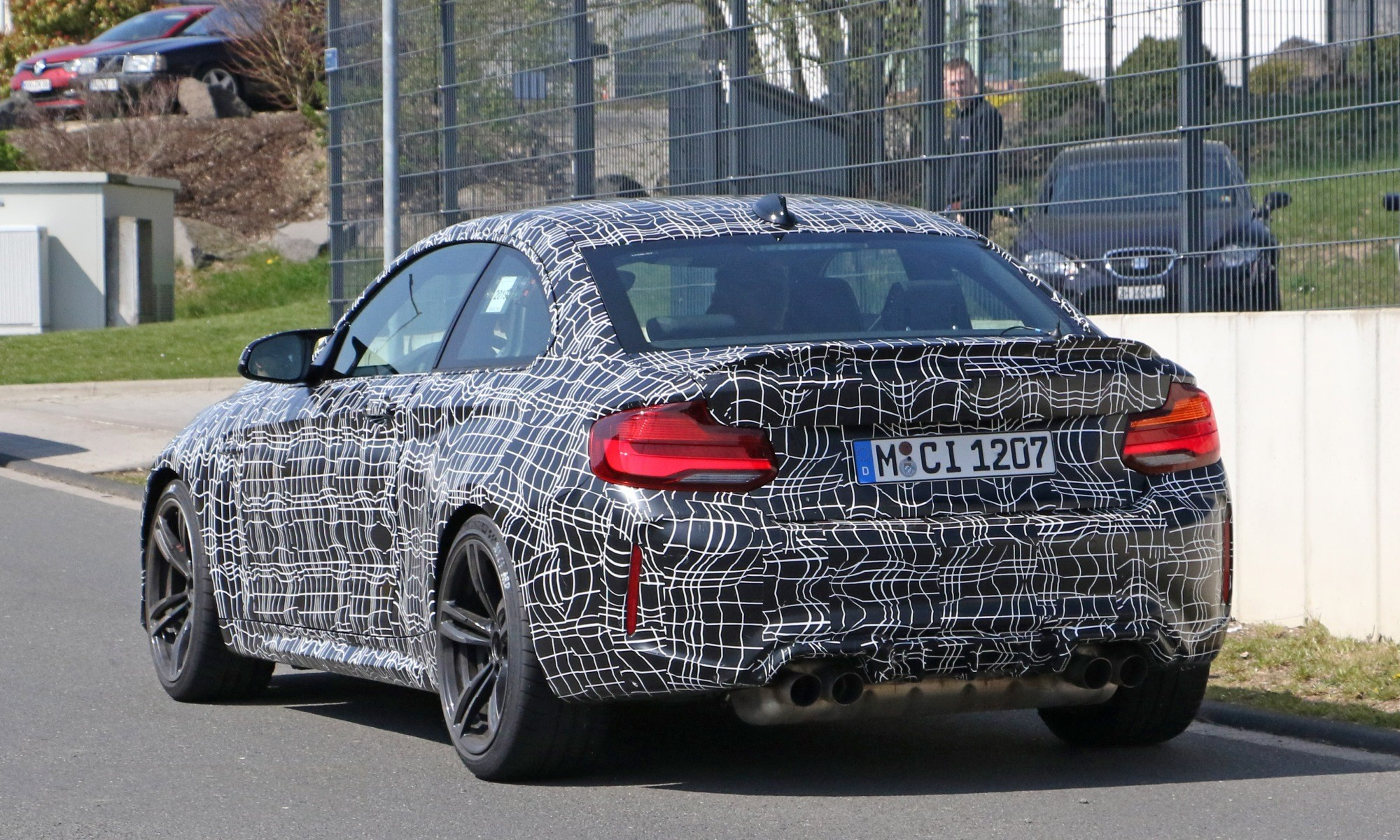 BMW M2 CS spotted rear