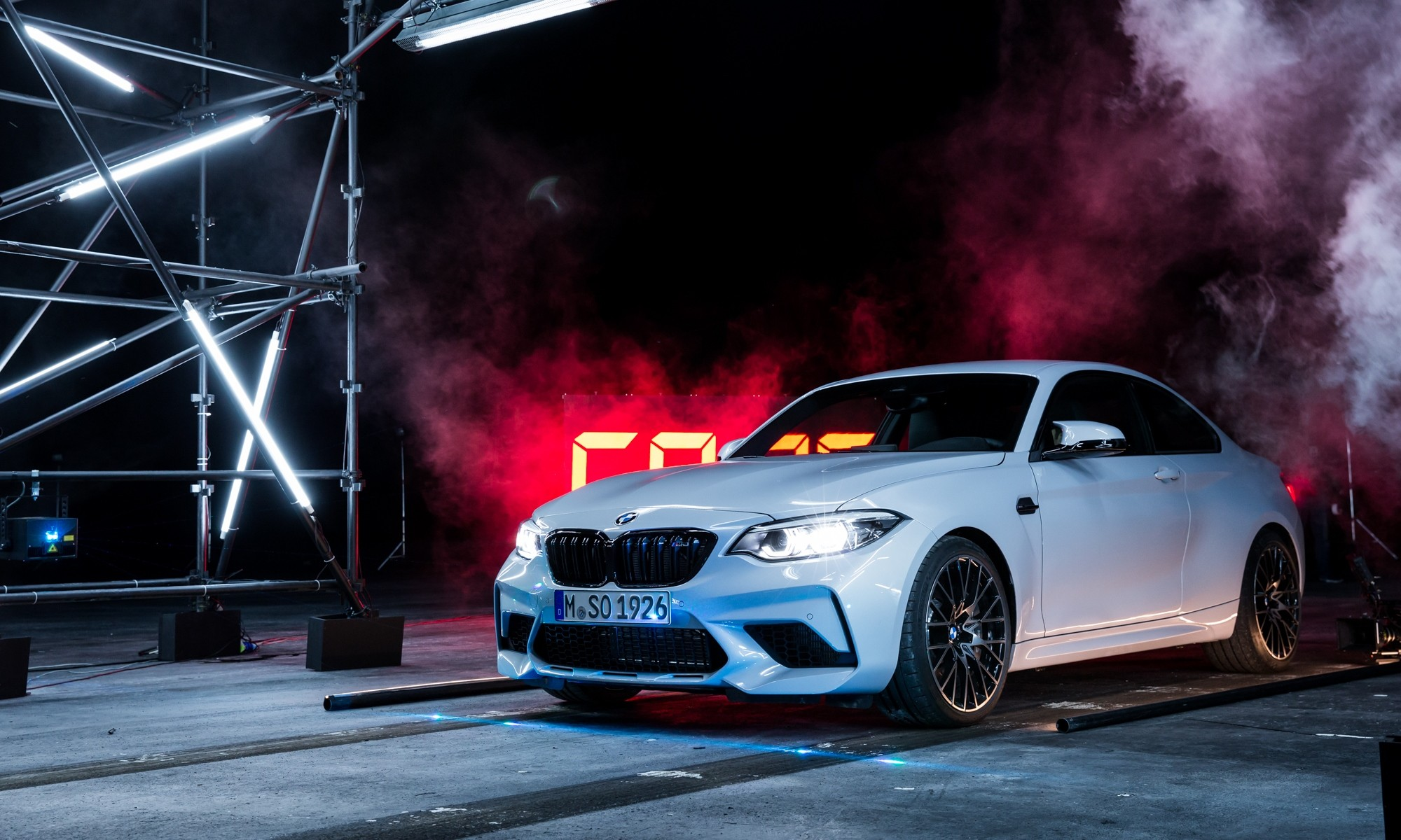 BMW M2 Competition on set