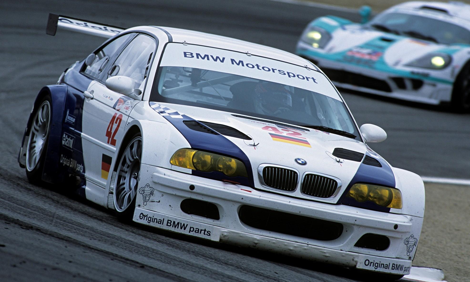 BMW M3 GTR racecar