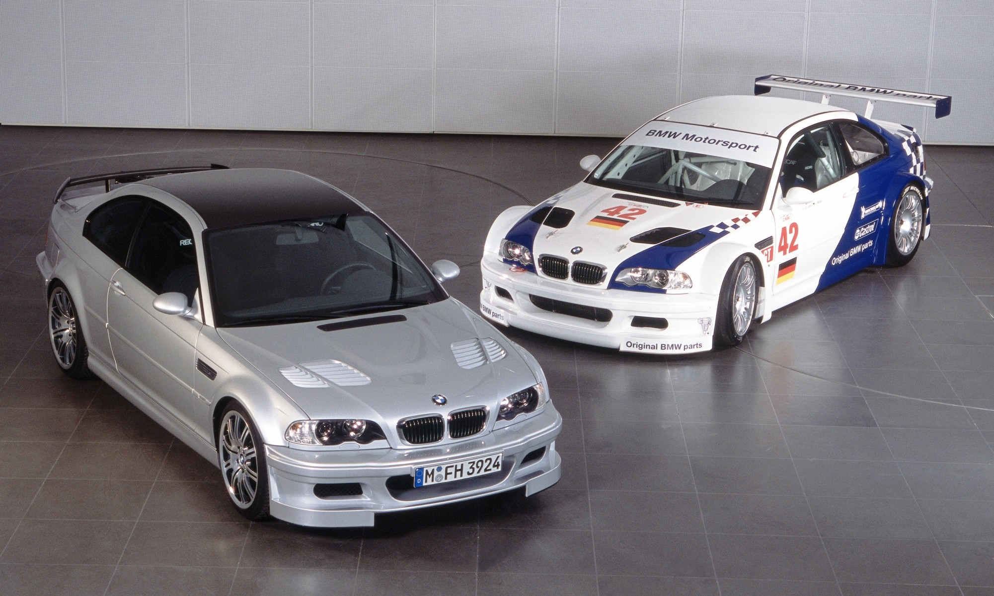 BMW M3 GTR road and racecar