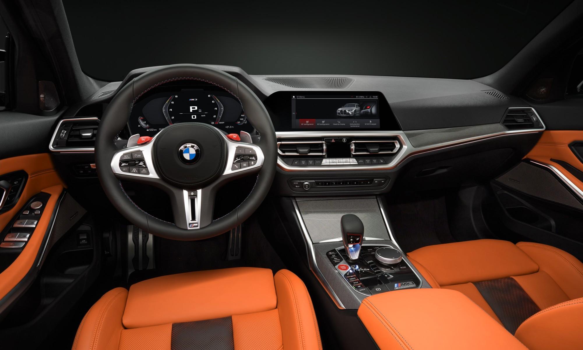 BMW M3 and M4 interior