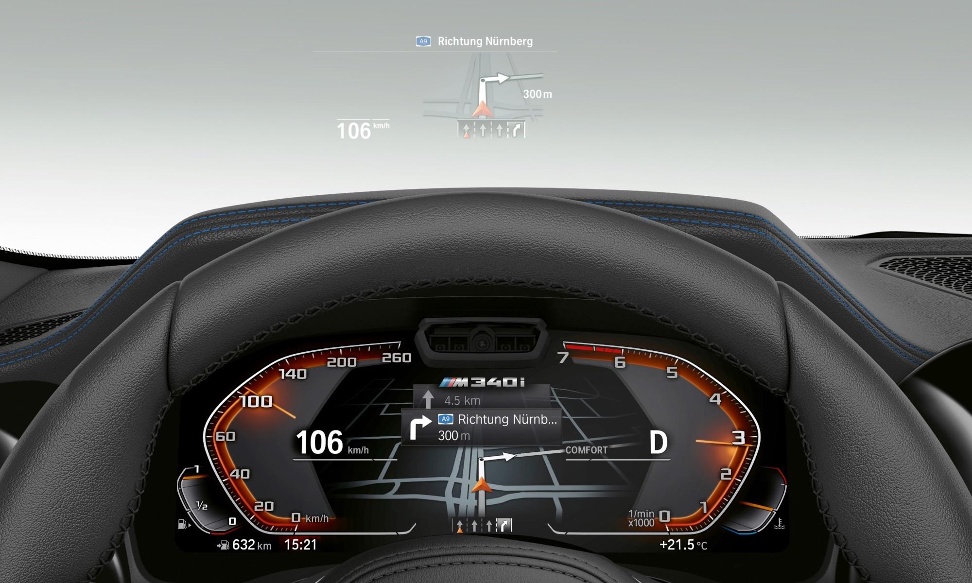 BMW M340i instruments