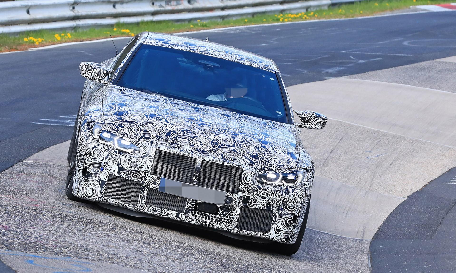 BMW M4 Testing grille