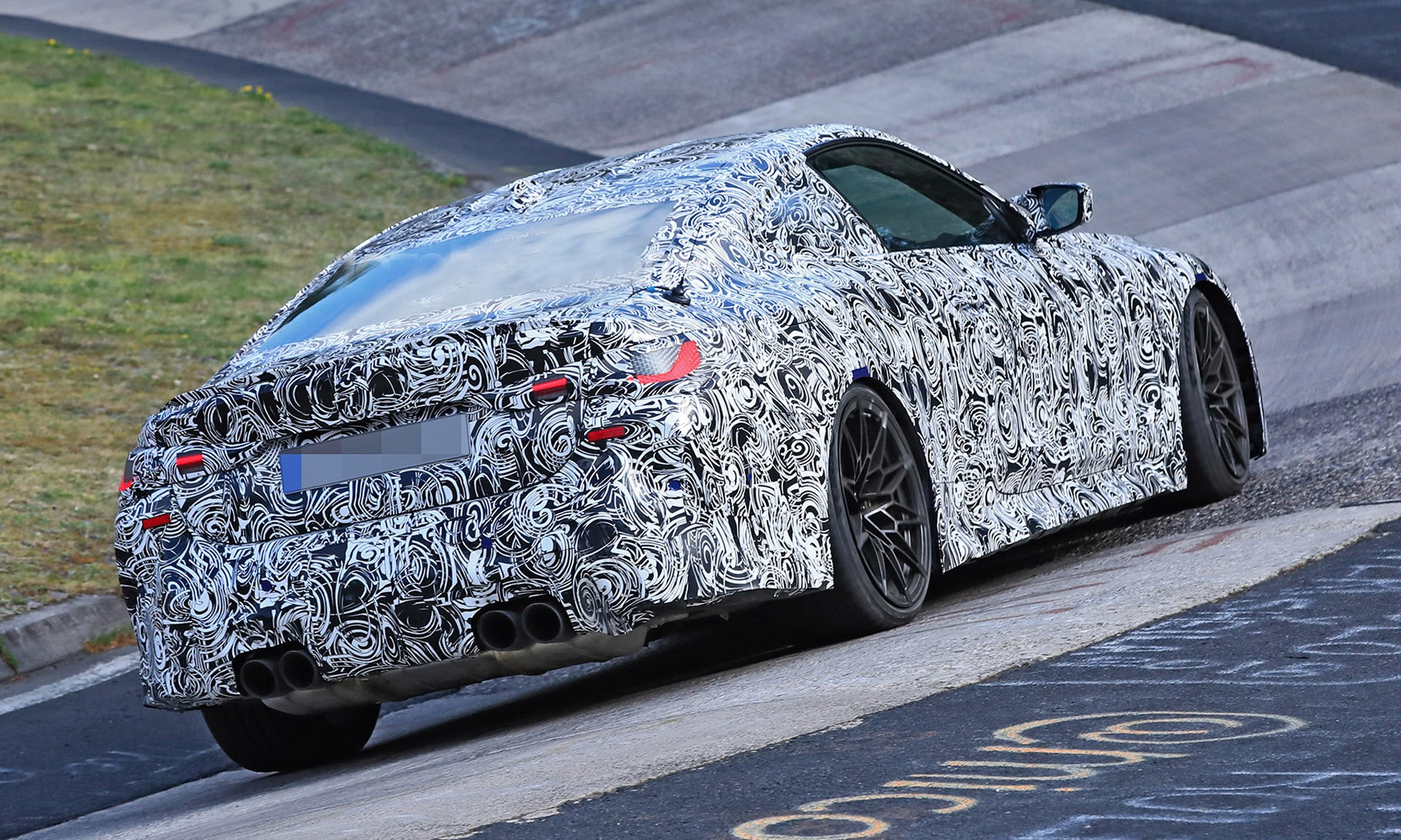 BMW M4 testing rear