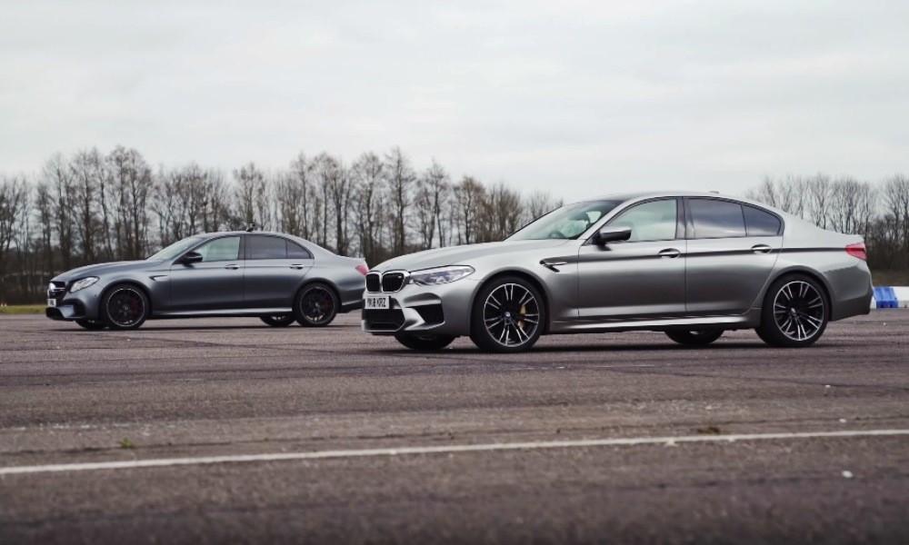 BMW M5 vs E63 S drag race