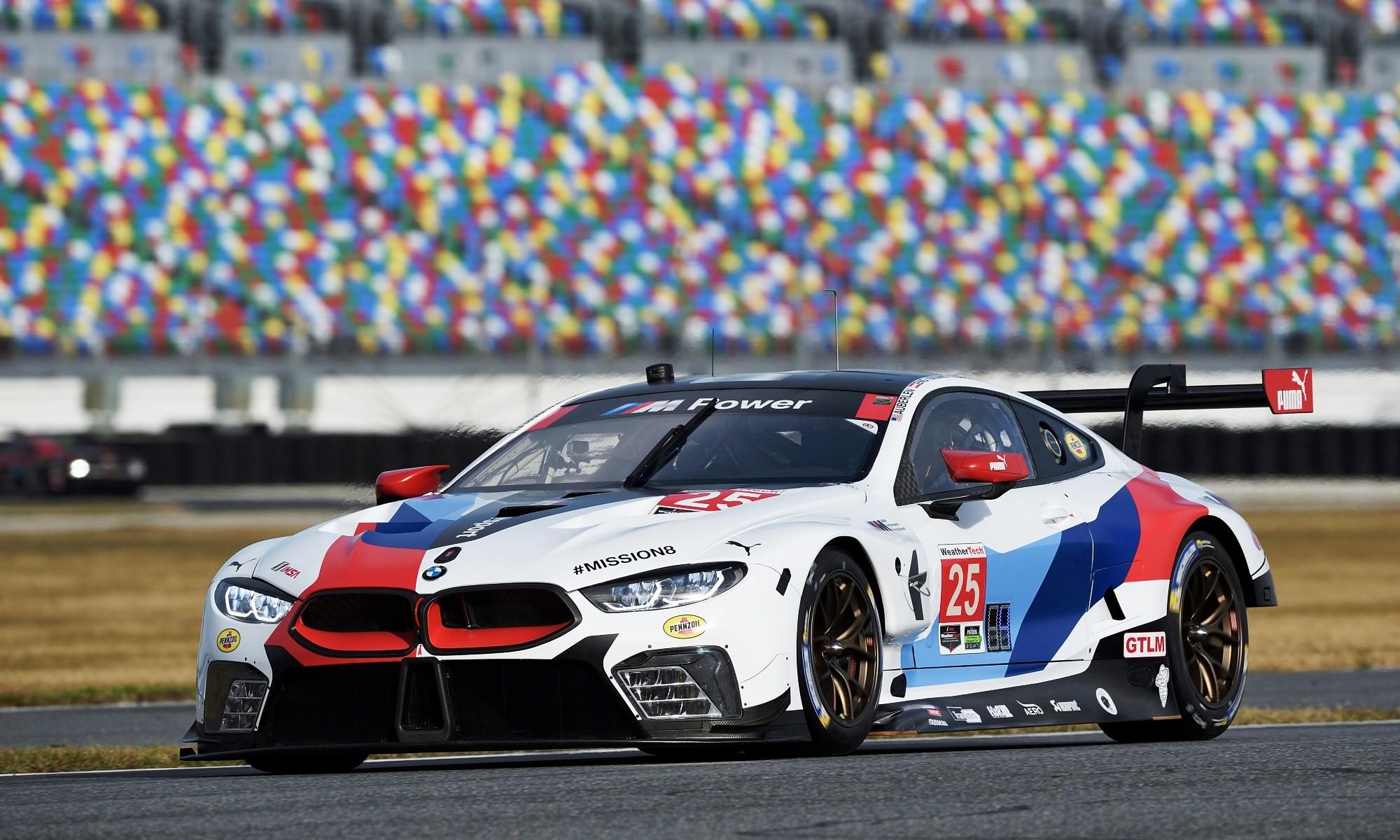 BMW M8 GTE testing