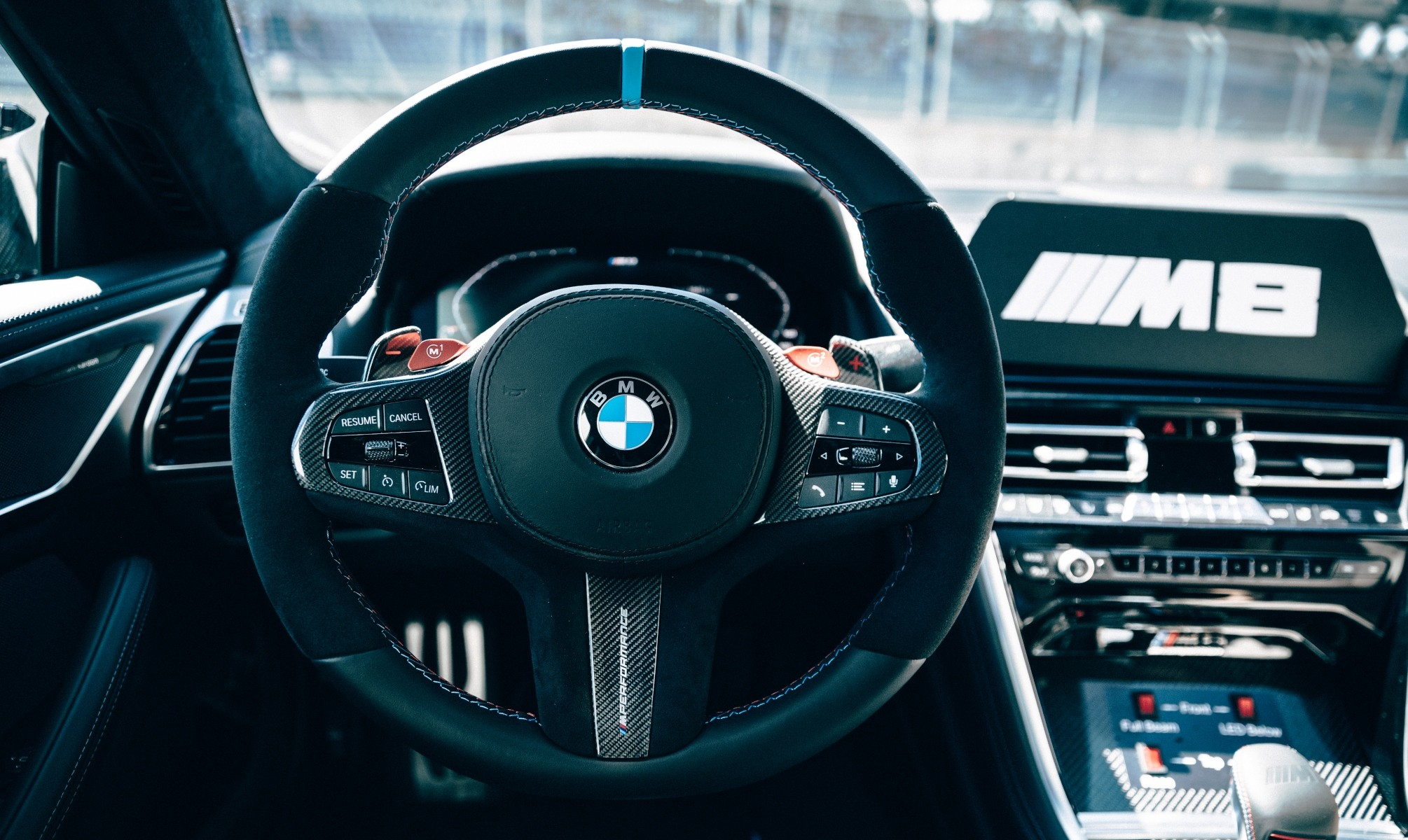 BMW M8 Safety Car interior