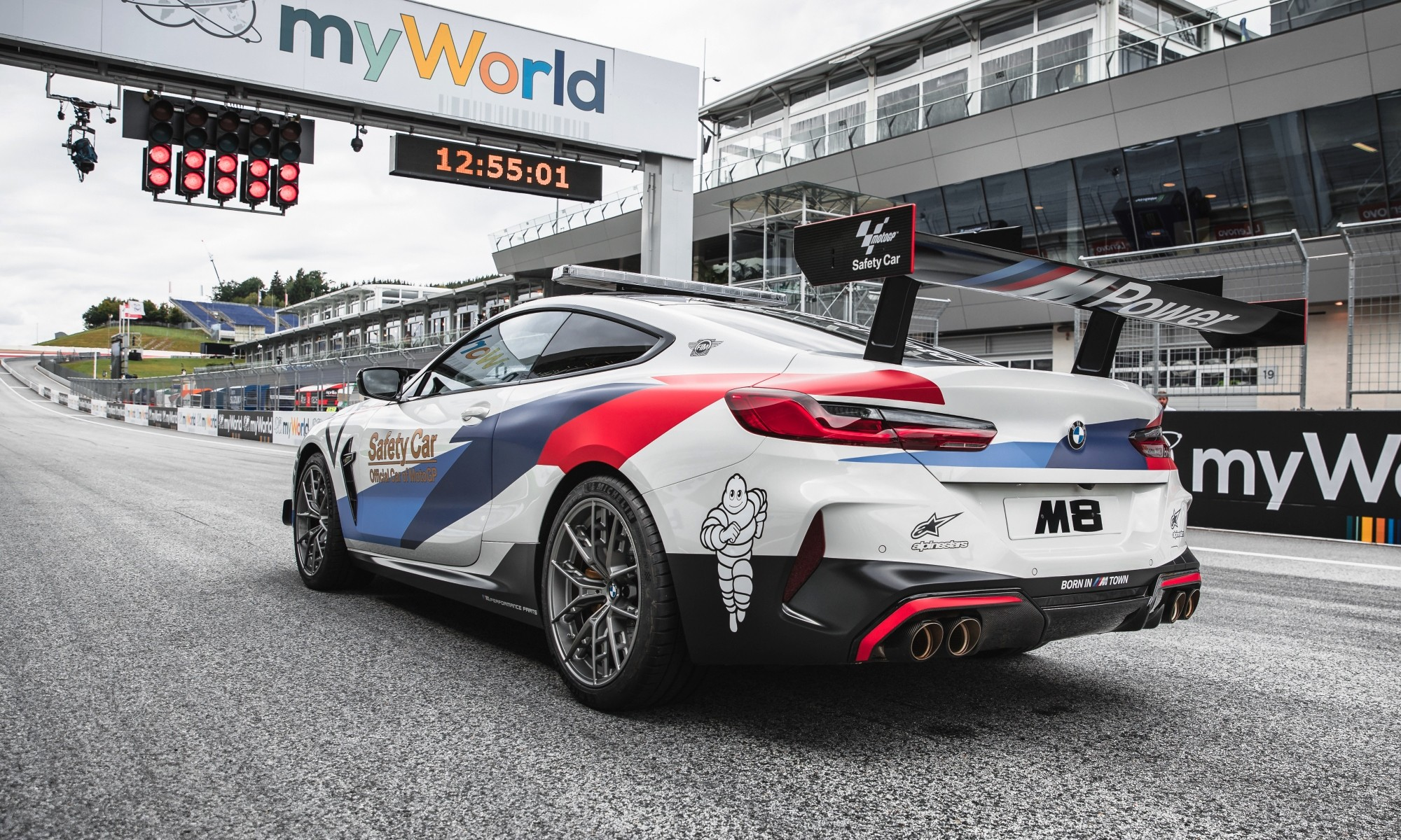 BMW M8 Safety Car rear