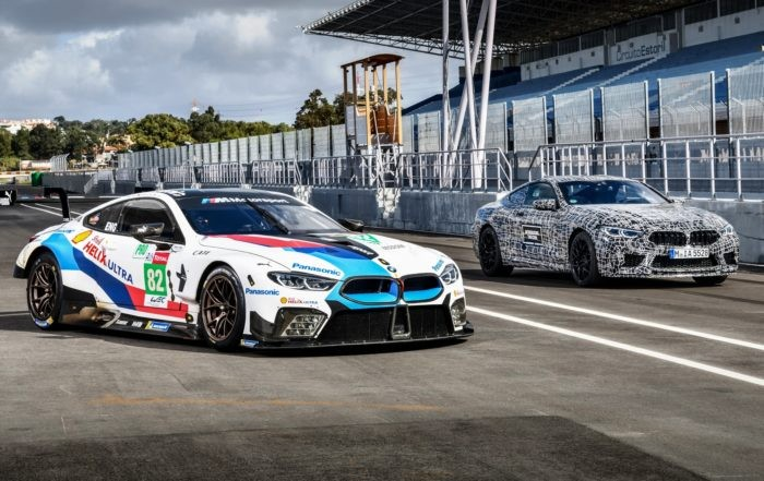 BMW M8 with its racecar counterpart