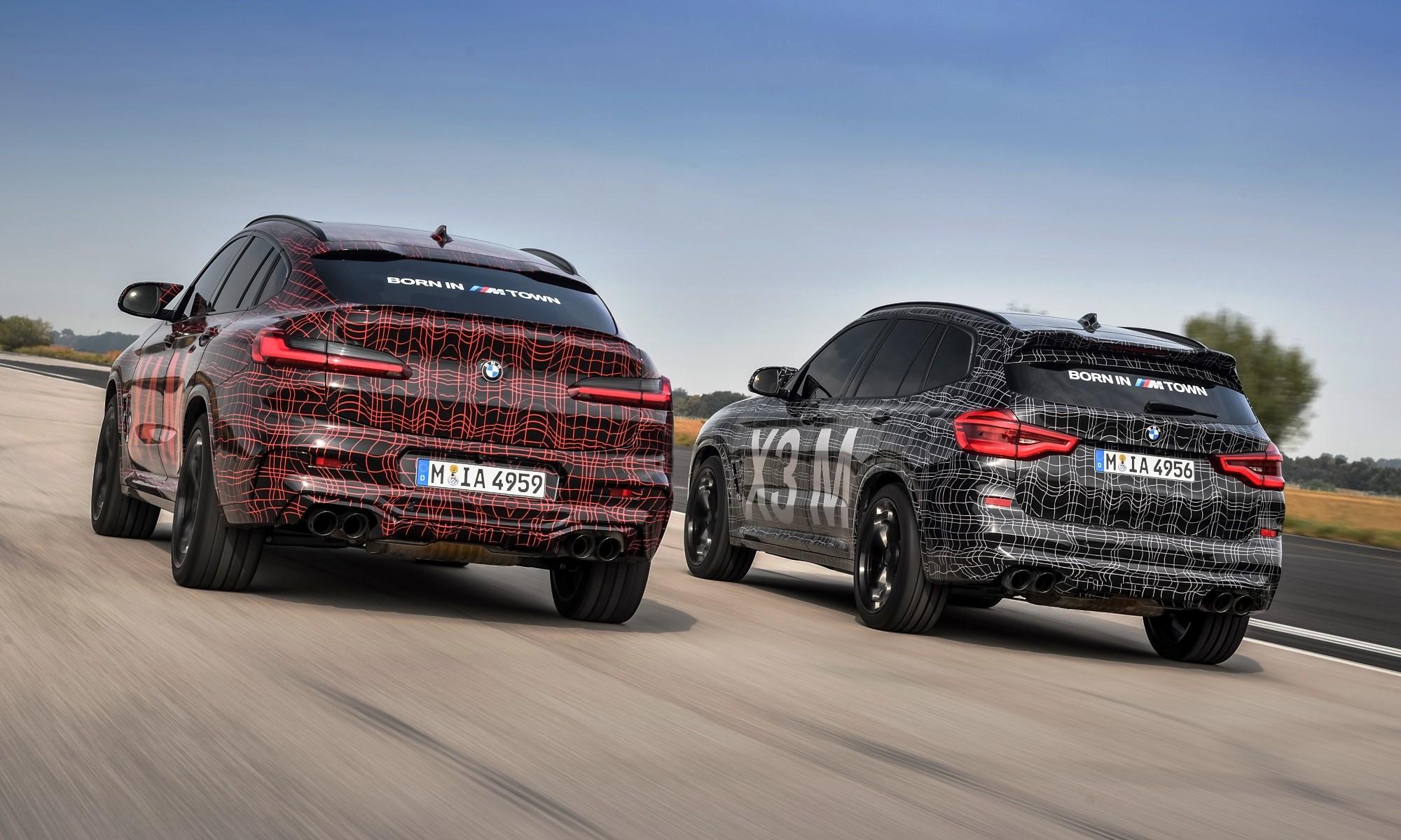BMW X3M and BMW X4M rear