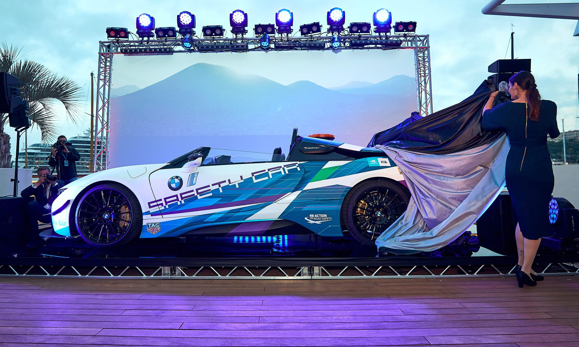 BMW i8 Roadster Safety Car unveiling