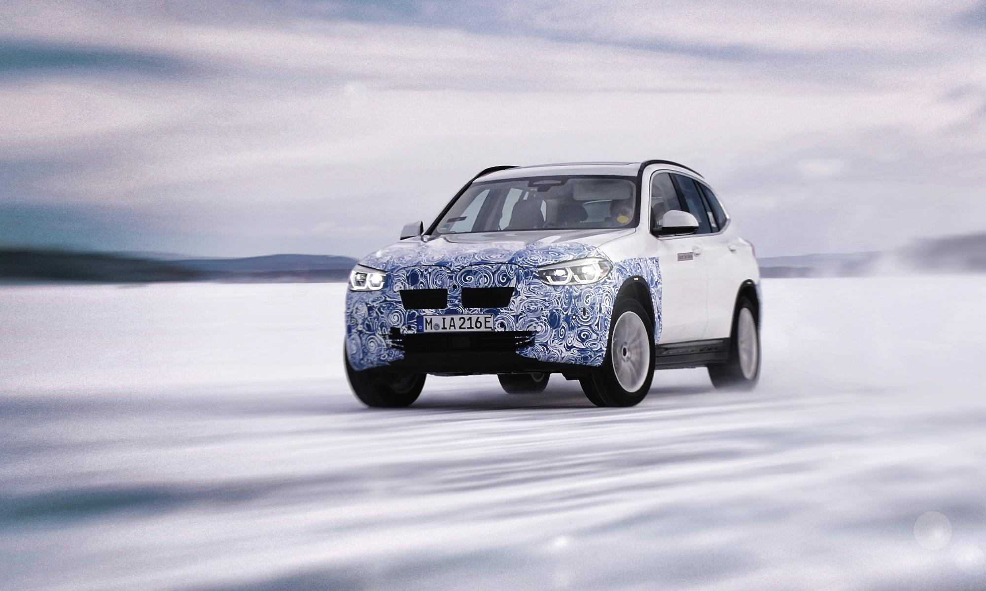 BMW iX3 undergoing testing