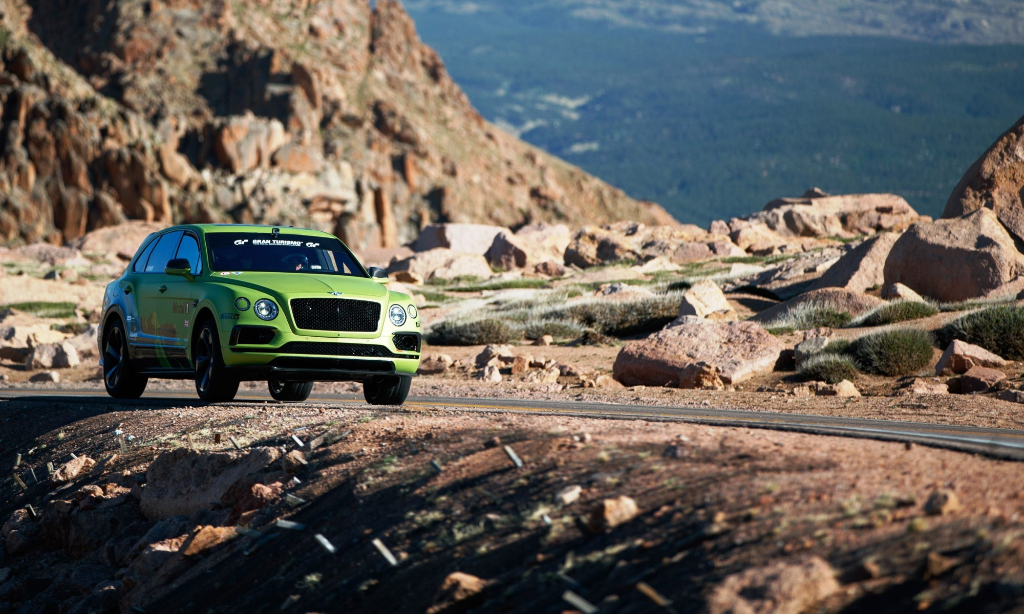 Bentley Bentayga Pikes Peak on the course