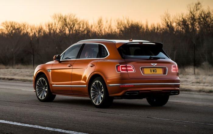 Bentley Bentayga Speed rear