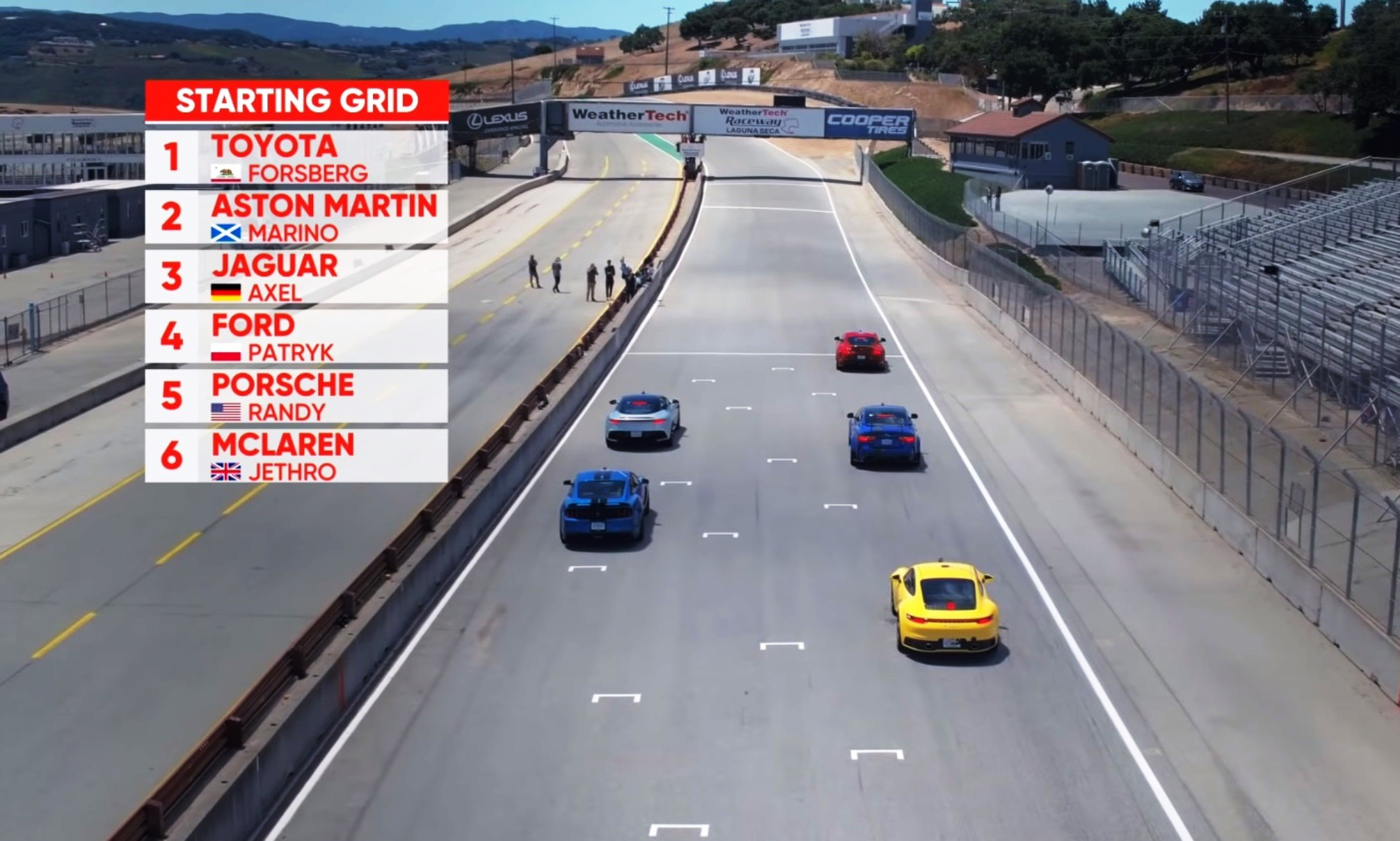 Best Driver's Car GP grid