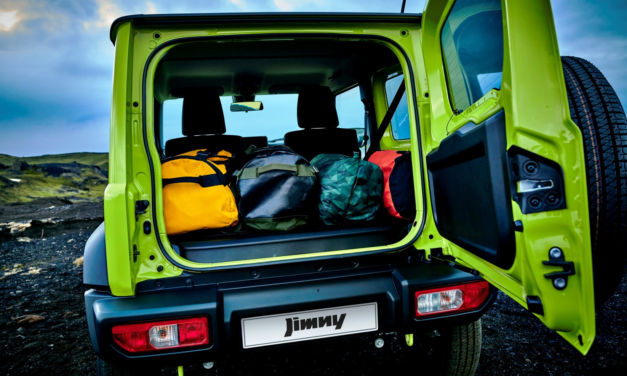 Boot space has been increasin the new Suzuki Jimny