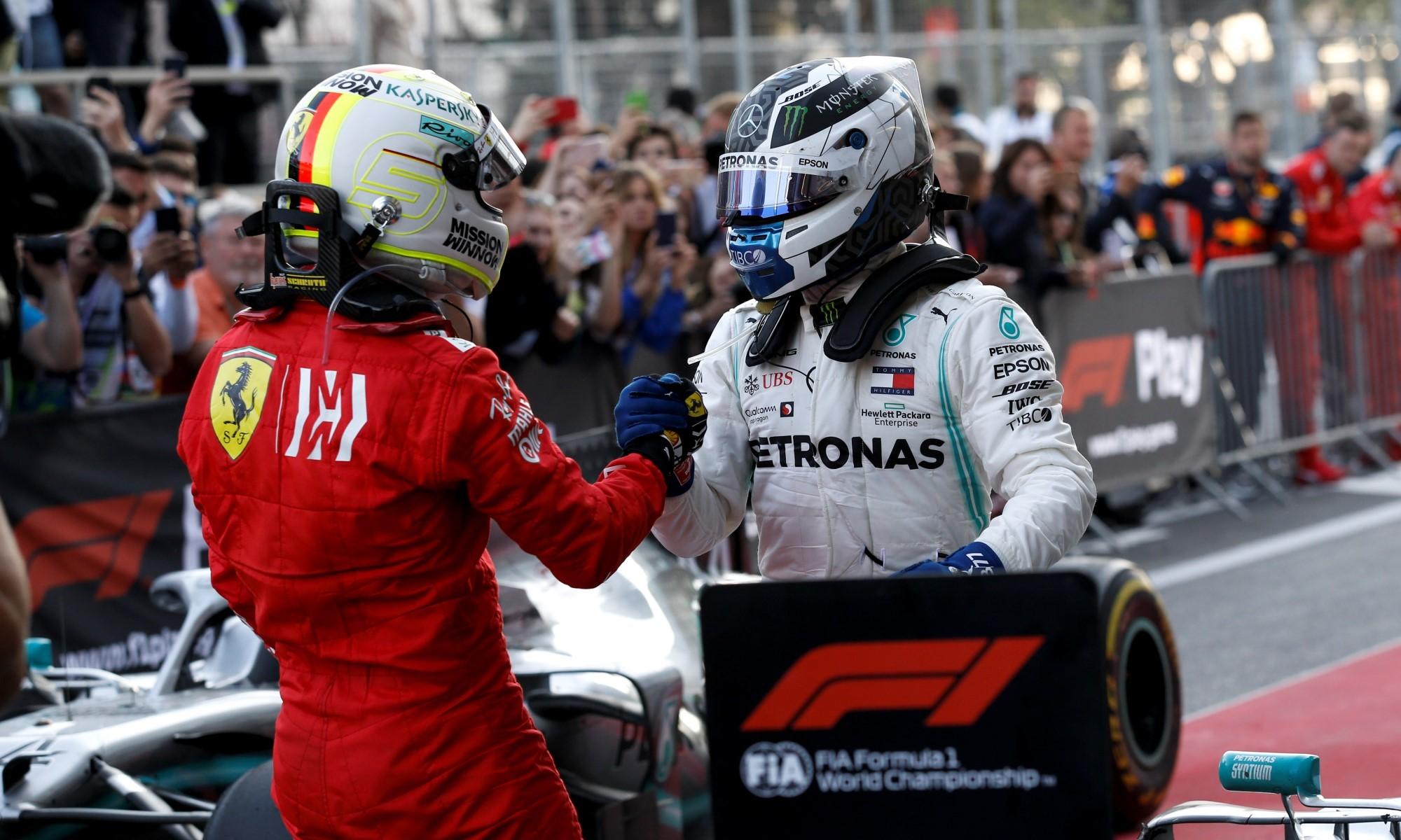 Bottas and Vettel